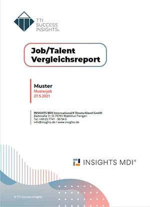 Musterreport Job/Talent Vergleichsreport